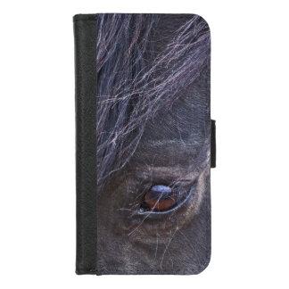 Oog van een Wilde Mustang iPhone 8/7 Portemonnee Hoesje