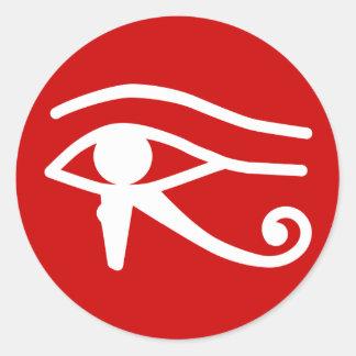 Oog van Horus Ronde Sticker