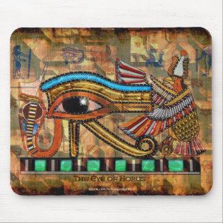 OOG VAN HORUS, WADJET Egyptische Kunst Mousepad Muismat