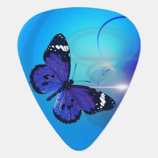 Oogst van de Gitaar van de vlinder de Blauwe Gitaar Plectrums 0