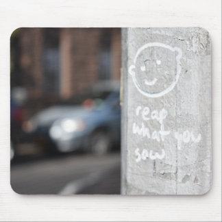Oogst Wat u de Foto NYC van Graffiti van de Stad Muismat