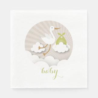 Ooievaar + Servetten van het Baby shower van Wegwerp Servet