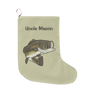 Oom: Largemouth Baarzen Grote Kerstsok