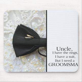 Oom Please is mijn Groomsman - uitnodiging Muismat