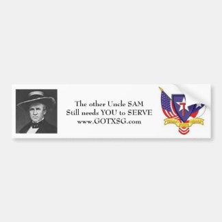Oom Sam Houston, de Staat van TXSG Texas Wacht Bumpersticker