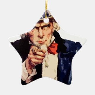 Oom Sam Keramisch Ster Ornament