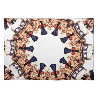 Oom Sam Pointing Finger Kaleidoscope Placemat