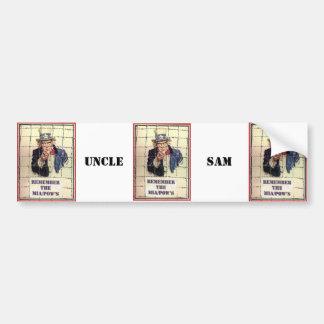 Oom Sam POW-MIA Bumpersticker