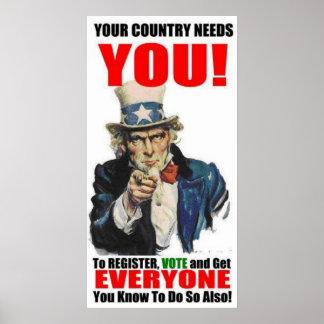 Oom Sam Register om over Poster te stemmen