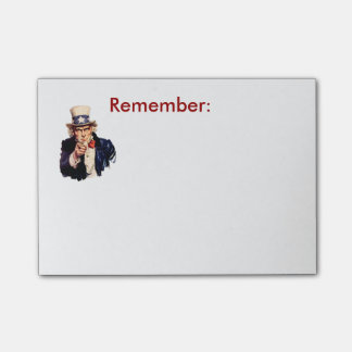 Oom Sam Remember Post-It Post-it® Notes