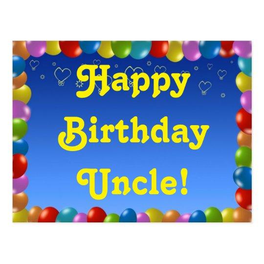 Oom Van De Verjaardag Van Het Briefkaart De Zazzle Nl