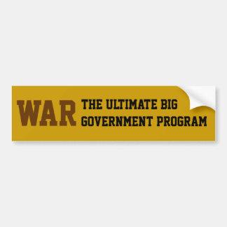 Oorlog: Het uiteindelijke Grote Programma van de O Bumpersticker