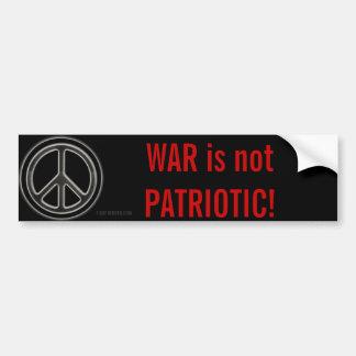 Oorlog niet Patriottisch Ron Paul, vrijheid Bumpersticker