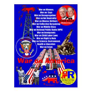 Oorlog op Amerika - Briefkaart