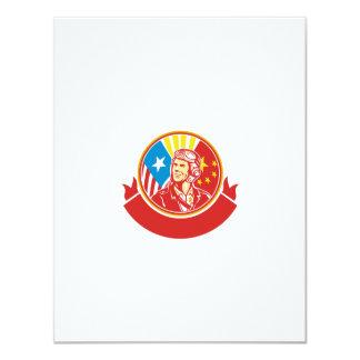 Oorlog van de wereld 2 de Proef Retro Cirkel van 10,8x13,9 Uitnodiging Kaart