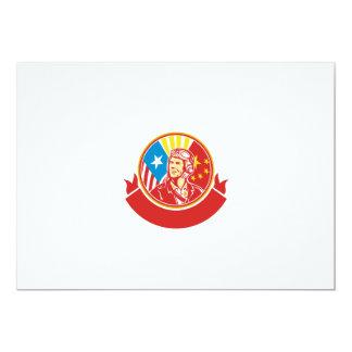 Oorlog van de wereld 2 de Proef Retro Cirkel van 12,7x17,8 Uitnodiging Kaart