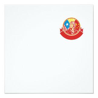 Oorlog van de wereld 2 de Proef Retro Cirkel van 13,3x13,3 Vierkante Uitnodiging Kaart