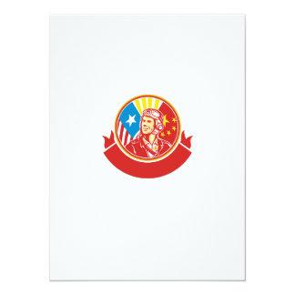 Oorlog van de wereld 2 de Proef Retro Cirkel van 13,9x19,1 Uitnodiging Kaart