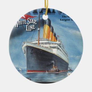 Oorspronkelijk kolossaal vintage poster 1912 rond keramisch ornament