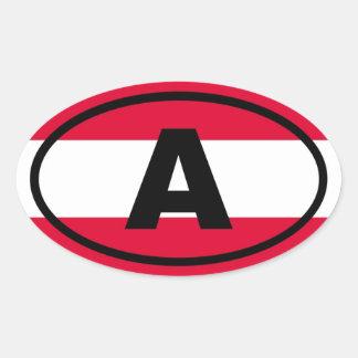 Oostenrijk - Europese A - Ovale Sticker