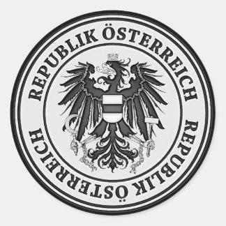 Oostenrijk om Embleem Ronde Stickers