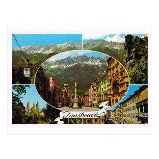 Oostenrijk, Tirol, Innsbruck multiview Briefkaart