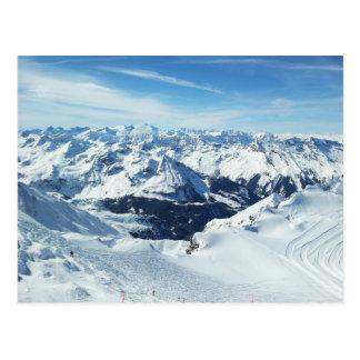 Oostenrijk van de reisalpen van de skiberg de briefkaart