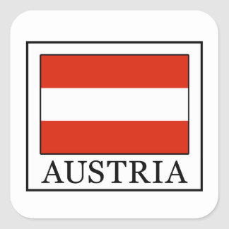 Oostenrijk Vierkante Sticker