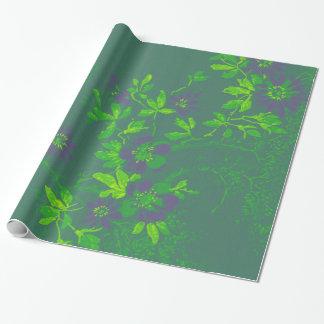 Oosters Bamboe Groene Paarse Smaragdgroene Cali Inpakpapier