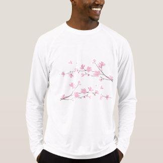 Oosters bloem-Kers bloesem-Zilver T Shirt