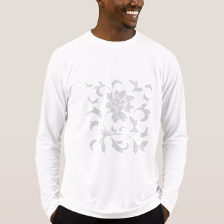 Oosters bloem-Limpet SHELL-Zilver T Shirt