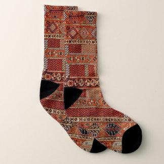 Oosters dekenontwerp in sinaasappel sokken