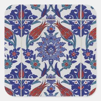 oosters-tegel-patroon vierkante sticker