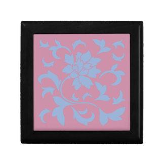 Oosterse Bloem - het Blauw & de Aardbei van de Decoratiedoosje