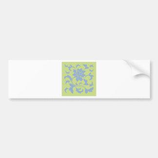 Oosterse Bloem - het Groene Blauw & Daiquiri van Bumpersticker