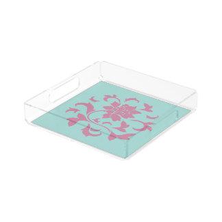Oosterse Bloem - Limpet het CirkelPatroon van Acryl Dienblad