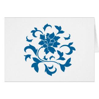 Oosterse Bloem - snorkel Blauw CirkelPatroon Kaart