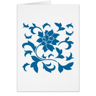 Oosterse Bloem - snorkel Blauw Kaart