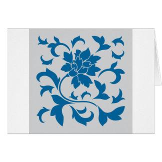 Oosterse Bloem - snorkel Blauw & Zilver Briefkaarten 0