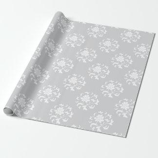 Oosterse Bloem - Zilveren CirkelPatroon Inpakpapier