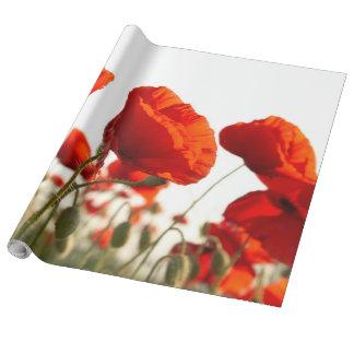 Oosterse Papavers - Verpakkend Document Inpakpapier