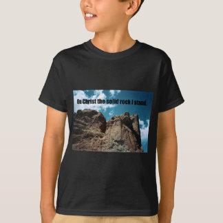Op Christus het Vaste Gesteente dat ik heb T Shirt