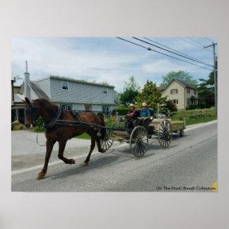 Op de Hoef/de Kinderen Amish in PA Poster