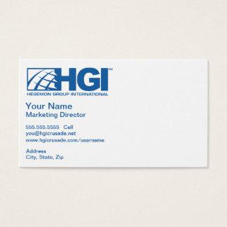 Op de markt brengende Directeur HGI Visitekaartjes
