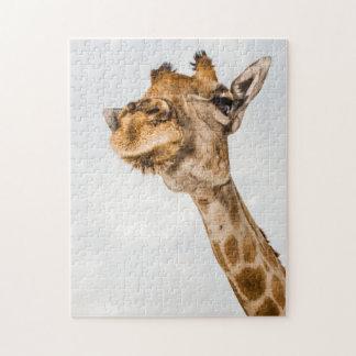 Op Dicht Portret van een Puzzel van de Giraf Puzzel