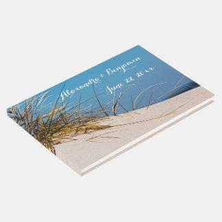 Op het Boek van de Gast van het Strand