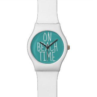 Op het Horloge van de Tijd van het Strand