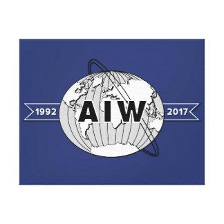 Op het Logo van het Jubileum canvas-AIW Canvas Afdruk