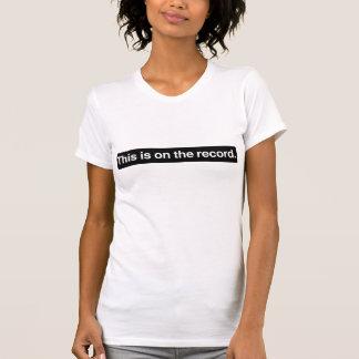 Op het Verslag T Shirt