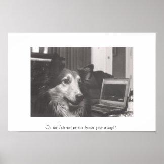 Op Internet kent niemand uw een hond!! Poster